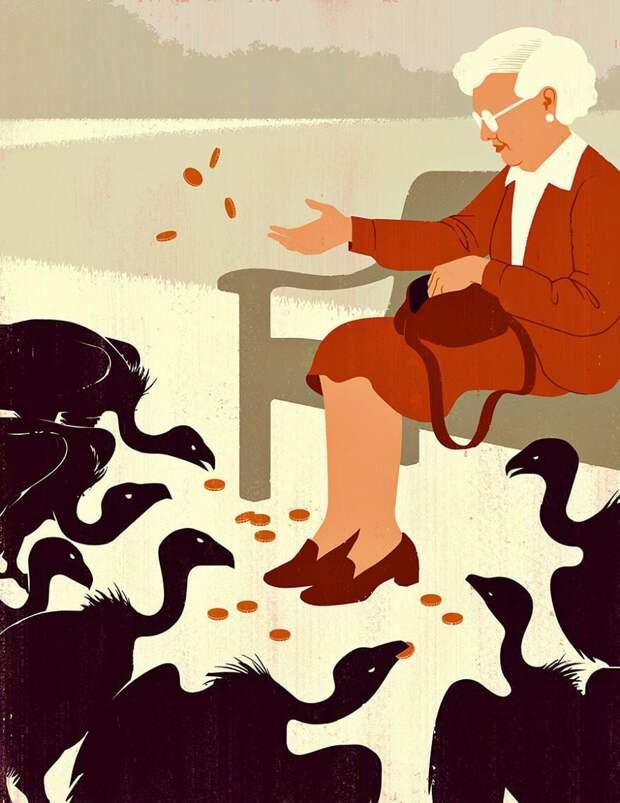 Злые, но реалистичные иллюстрации нашего мира