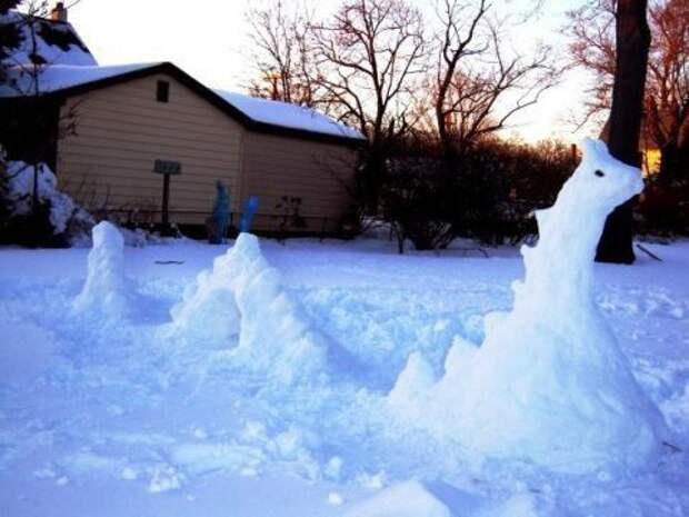 Снеговики для ленивых или креативных (подборка)