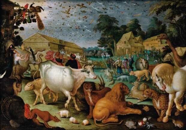 Ковчег Ноя, художник Я. Саверей, первая половина XVII века. \ Фото: rushist.com.