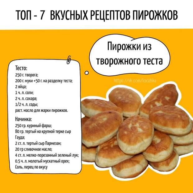 ТОП-7 самый лучших пирожков на любой вкус