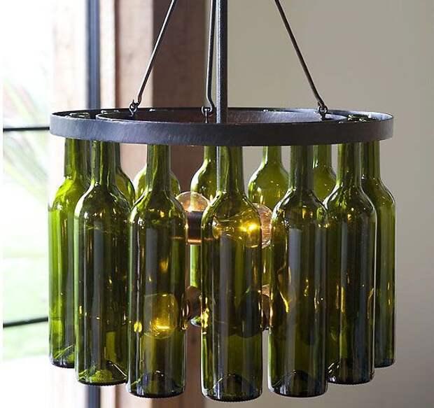 Крутые светильники из бутылок