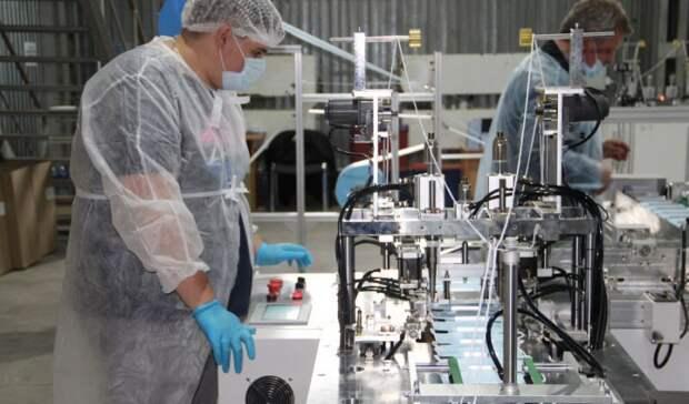 На Урале открыли линию по производству резинок и материи для медицинских масок
