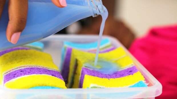 Нестандартное применение губки для посуды