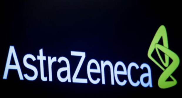 Логотип AstraZeneca в Нью-Йорке, США, 8 апреля 2019 года. REUTERS/Brendan McDermid