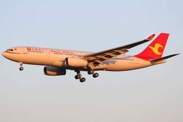 Airbus A330-243 авиакомпании Tianjin Airlines
