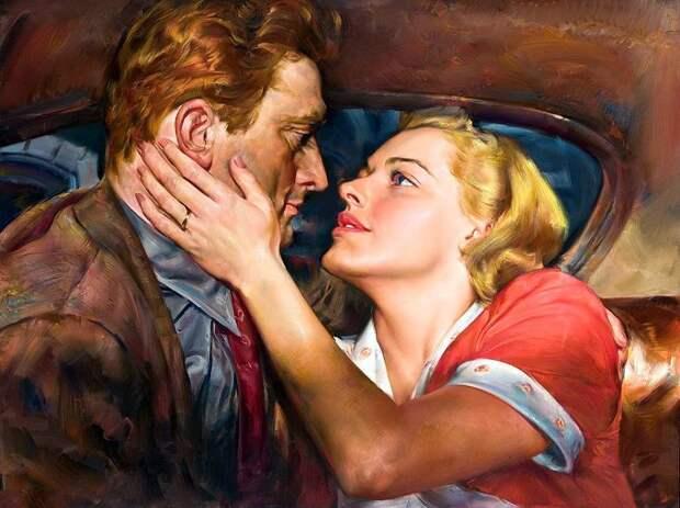 Романтическое свидание в живописи