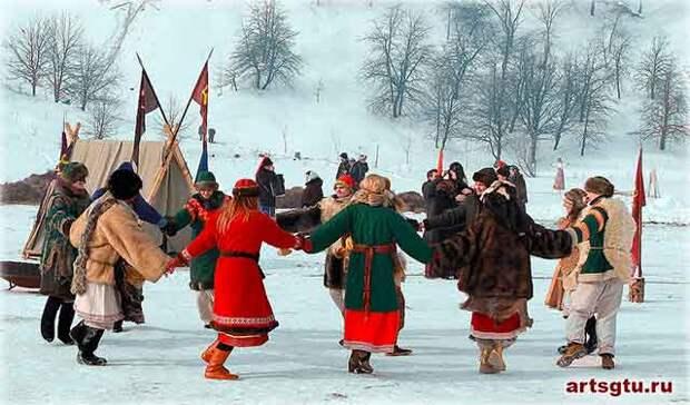 Зима в славянских традициях