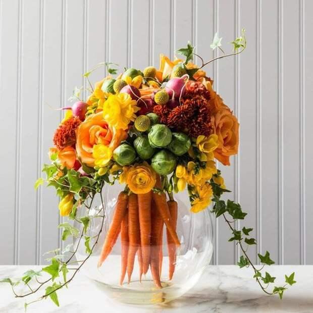 Букеты с морковкой