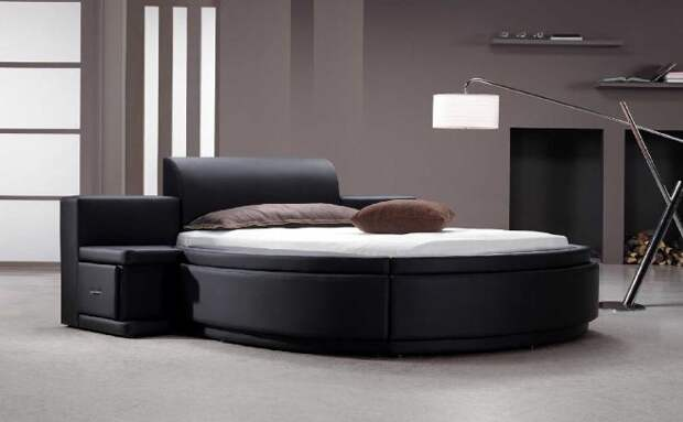 Круглая кровать – незаурядный вариант спального места (60 фото)