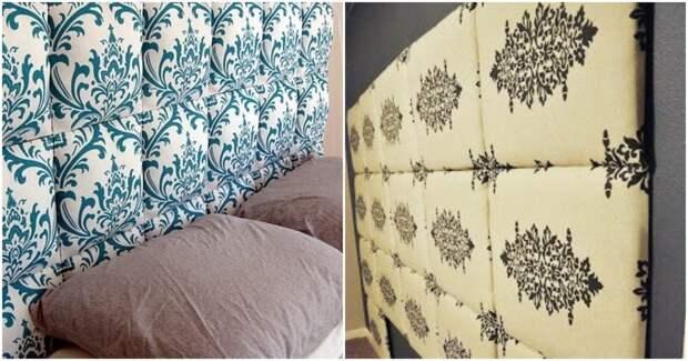 Красивые текстильные изголовья кровати своими руками