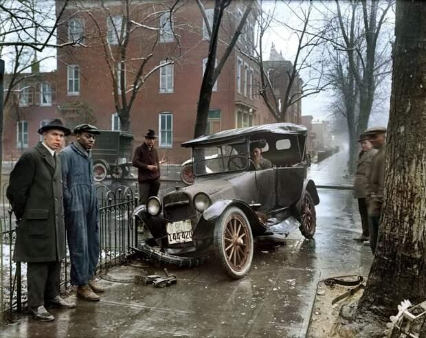 Ретро-аварии прошлого века 20 век, аварии, авто, машины, ретро, фото