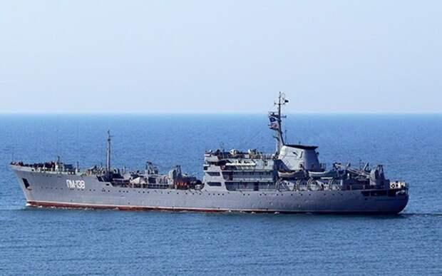 Плавучая мастерская Черноморского флота возвращается из Средиземного моря