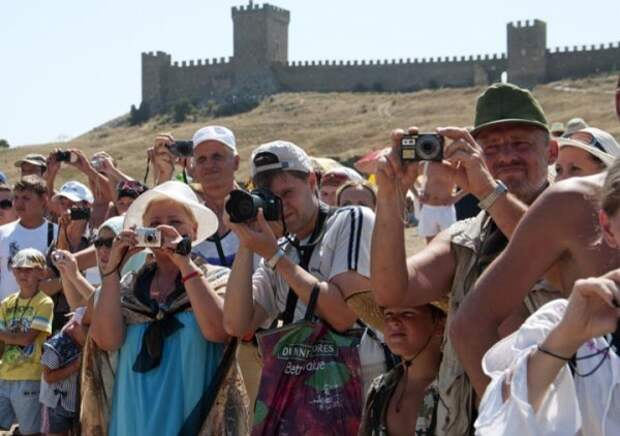 Украинские туристы в Крыму обогнали всех остальных