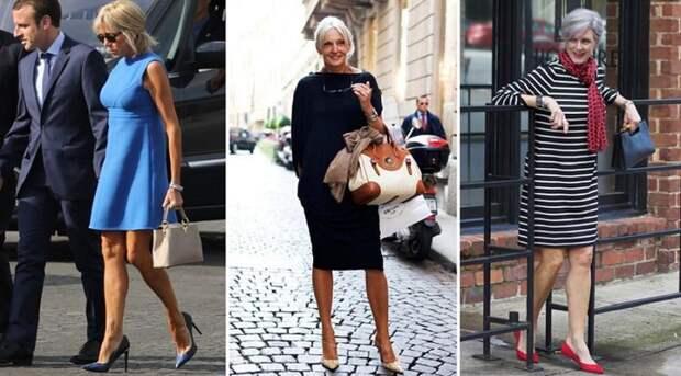 По стопам Брижит Макрон: 10 смелых нарядов для женщин за 50.