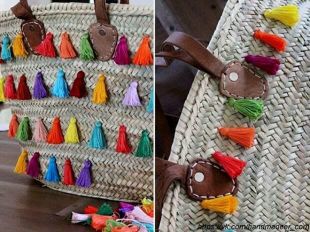 Декор пляжной сумки (diy)