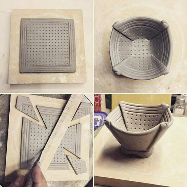 Чаша из квадрата