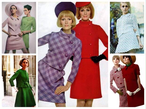 женственные костюмы 60-х годов