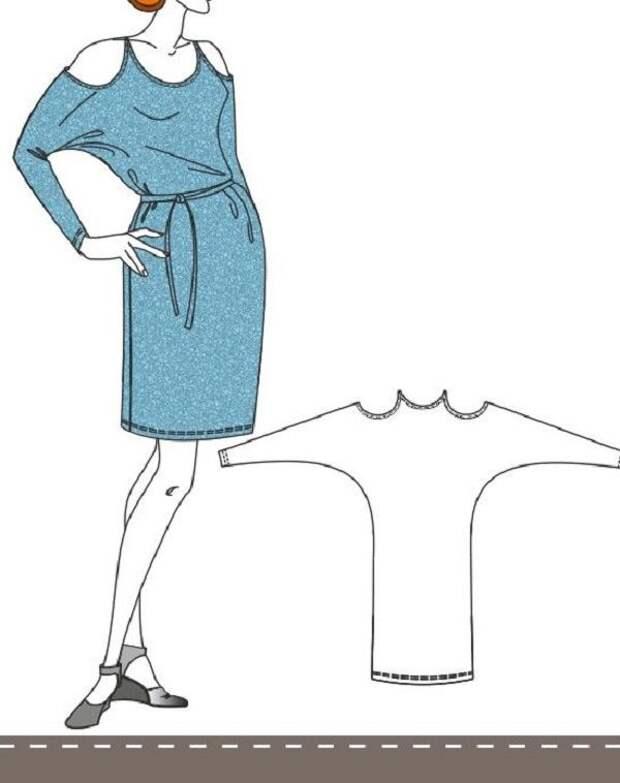 Цельнокроеные наряды с выкройками. Стильно, модно и не очень сложно