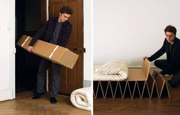 Кровать из картона: варианты конструкции