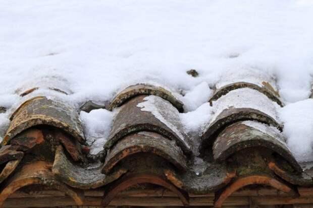 Черепица и снег