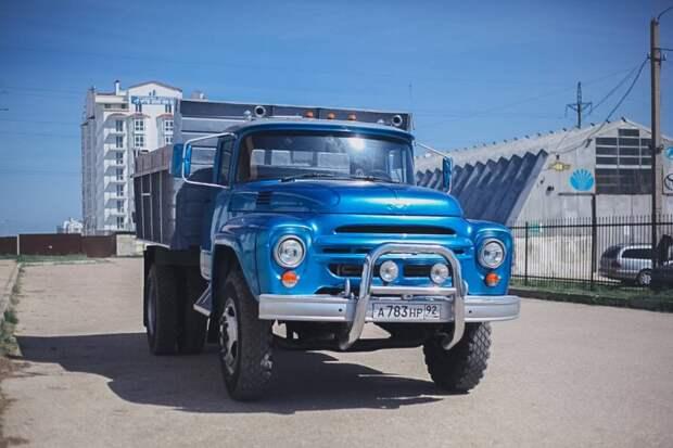 Роскошный самосвал ЗИЛ-130 из Севастополя авто, автотюнинг, грузовик, зил, зил-130, зилок, самосвал, тюнинг
