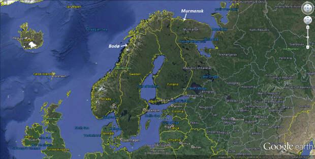 Аварийная посадка SR-71 в Норвегии после шпионского полёта в районе Мурманска