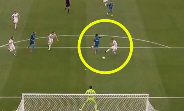 Футболист «Оренбурга» забил курьезный гол в свои ворота в матче с «Зенитом»: видео