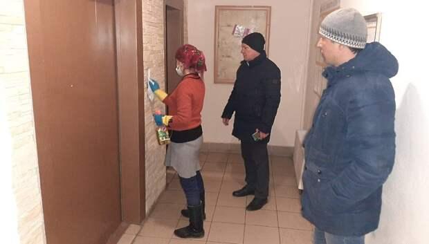 Власти Подольска провели внезапную проверку работ по дезинфекции подъездов