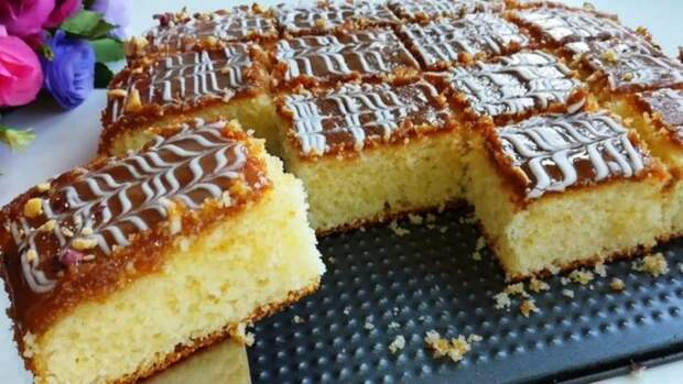 Нежный и вкусный МАННИК. Я просто влюбилась в этот пирог.