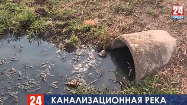 В Красногвардейском районе река стала приёмником для всей сельской канализации