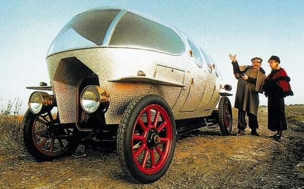 Первая в мире аэродинамическая легковушка Alfa Romeo Aerodinamica с пятиместным кузовом. 1914 год авто, автодизайн, автомобили, дизайн, интересные автомобили, минивэн, ретро авто