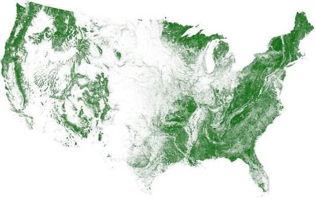 14 карт Соединенных Штатов Америки, которые вас очень удивят