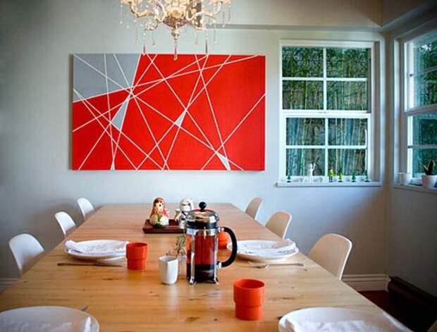 Минималистичный геометрический декор стен