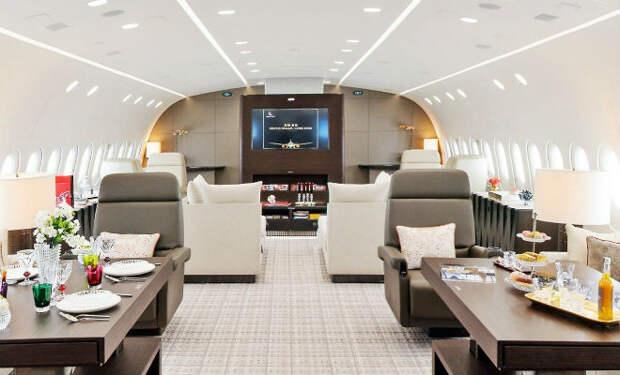 Внутри самых роскошных самолетов