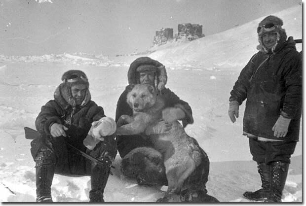 Как дрейфовали папанинцы на льдине Папанин, арктика, северный полюс, экспедиция