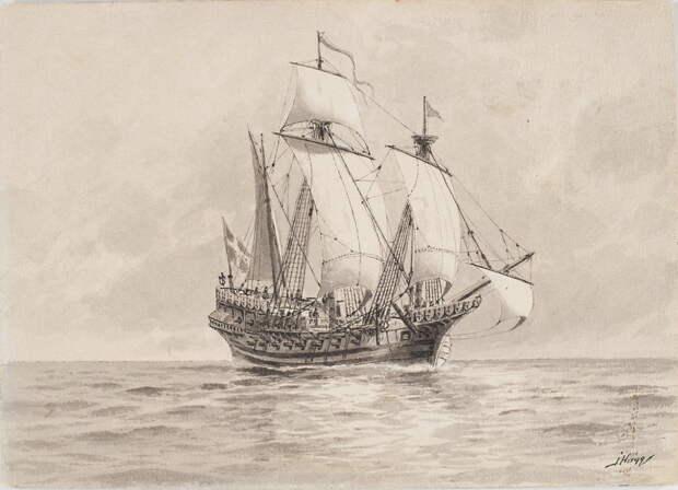 Корабль «Любек Сван», купленный Густавом Вазой у Любека в 1522 году. Реконструкция Якоба Хогга - Густав Ваза строит флот   Warspot.ru