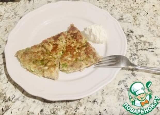 Ленивый кето-пирог на сковороде