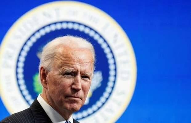 U.S. President Joe Biden speaks speaks during a brief appearance at the White House in Washington, U.S., January 25, 2021. REUTERS/Kevin Lamarque