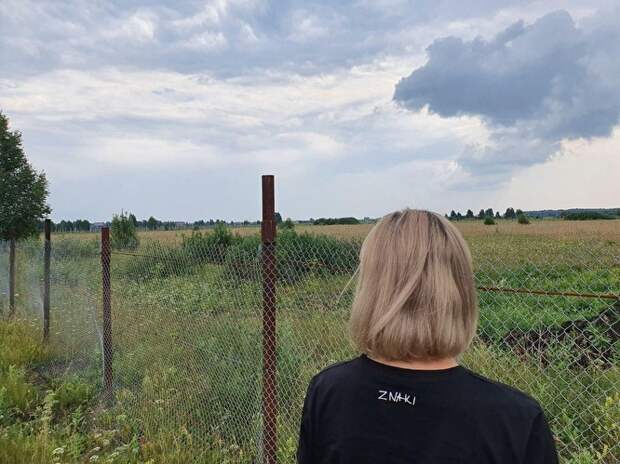 Если смотреть на территорию Ольги Сегаль из-за забора, то действительно кажется, что никаких садов тут нет