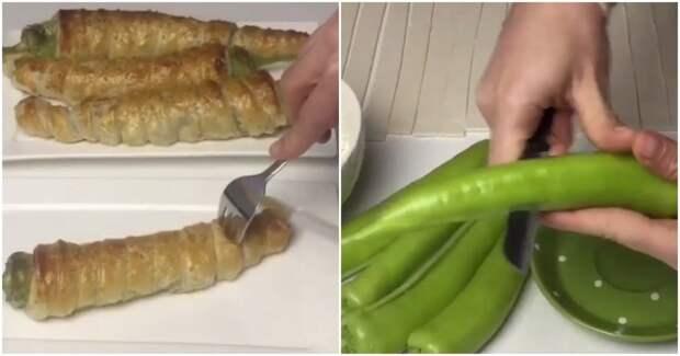 Аппетитная и быстрая закуска — перцы в тесте с нежной начинкой