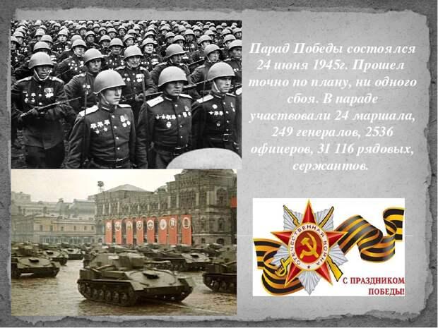 """Презентация на тему """"Парад Победы в Москве 1945 г"""""""