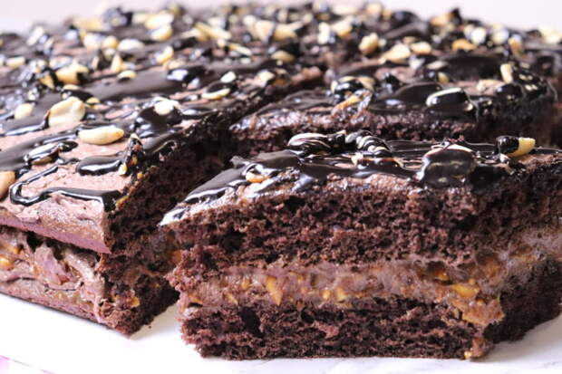 Торт Сникерс. Вкуснее и мягче настоящего Сникерса