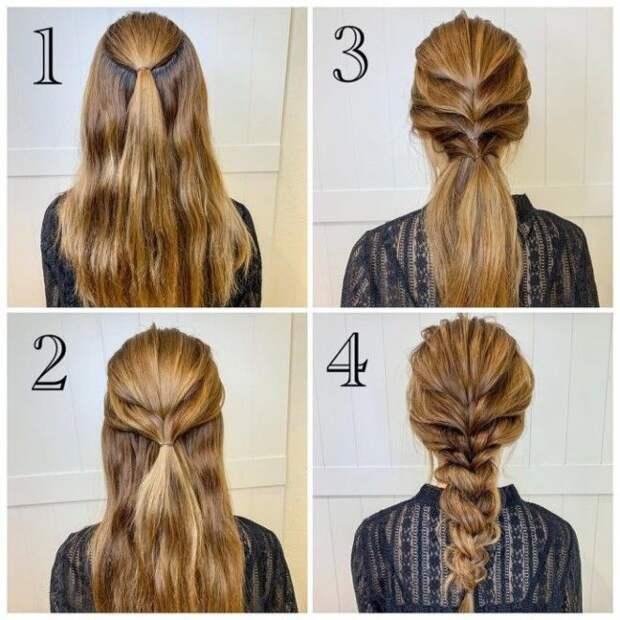 11 простых и стильных причёсок, которые можно сделать за пару минут