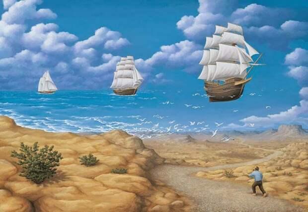 Роб Гонсалвес, Robert Gonsalves, оптические иллюзии картины