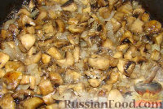 Фото приготовления рецепта: Грибы со сметаной - шаг №7
