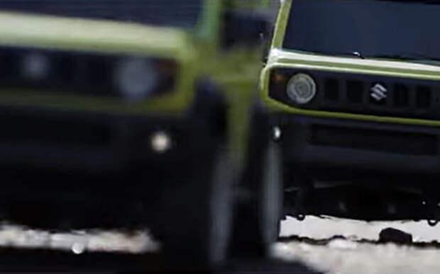 Это забавно: новый Suzuki Jimny в виде внедорожных роликов