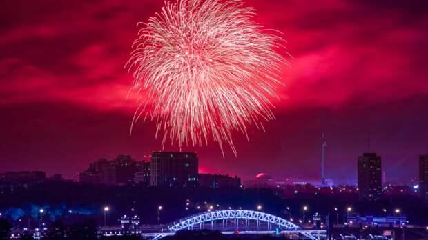 В Москве рассказали о фейерверках ко Дню города