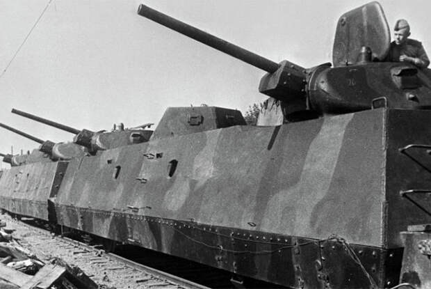 Советский бронепоезд в период Великой Отечественной войны