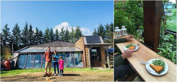 Канадская семья живет в уединенном доме, выращивает еду, собирает дождевую воду и не платит ипотеку
