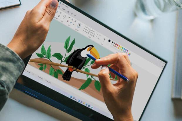 Новый дизайн программы Paint случайно появился в Сети